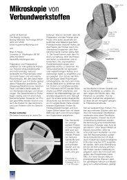 Mikroskopie von Verbundwerkstoffen - Struers