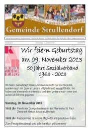 Mitteilungsblatt KW 44 im Jahr 2013 - Strullendorf