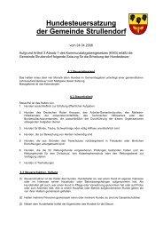 Satzung über die Erhebung von Hundesteuer - Strullendorf