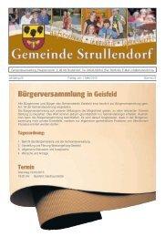 Bürgerversammlung in Geisfeld - Strullendorf