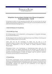 Integration von erneuerbaren Energien in die Wärmeversorgung ...