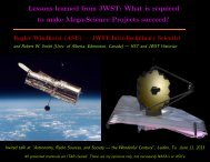 Lessons learned from JWST: What is required to make Mega ...