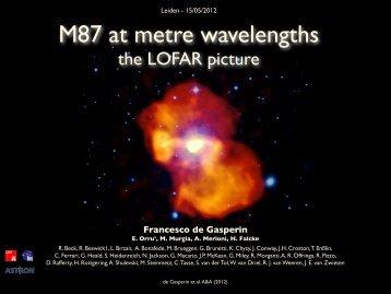 M87 at metre wavelengths