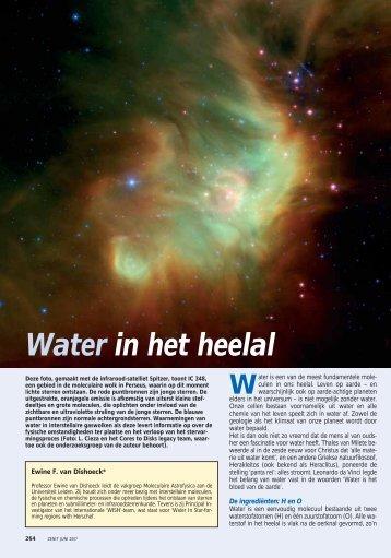Water in het heelal - Leiden Observatory - Universiteit Leiden