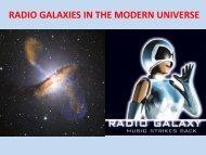 RADIO GALAXIES IN THE MODERN UNIVERSE