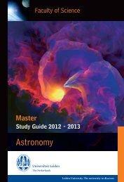 Current MSc Study guide - Leiden Observatory - Universiteit Leiden