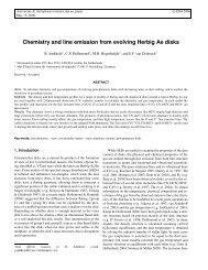 Line emission from an evolving disk
