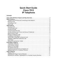 Quick Start Guide Cisco 7912 IP Telephone
