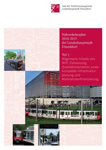 Nahverkehrsplan der Landeshauptstadt Düsseldorf 2010 bis 2015 ...
