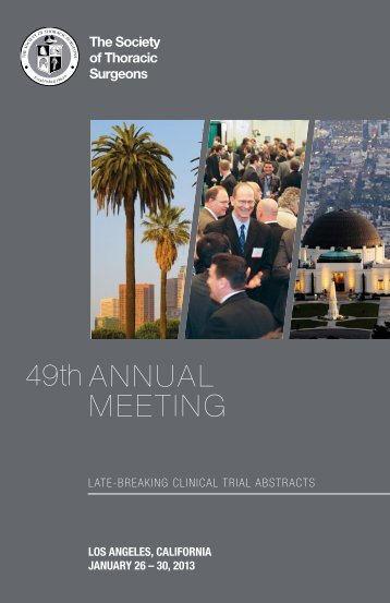 Late-Breaking Abstracts - The Society of Thoracic Surgeons