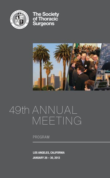 49th AnnuAl Meeting - The Society of Thoracic Surgeons