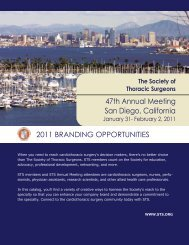 2011 branding opportunities - The Society of Thoracic Surgeons