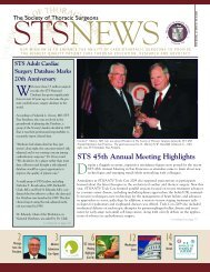 Spring 2009 - STS News - The Society of Thoracic Surgeons