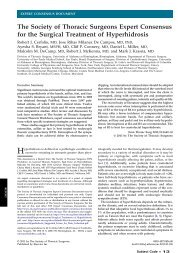 Expert Consensus for the Surgical Treatment of Hyperhidrosis