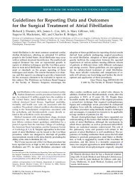 Guidelines for Reporting Data and Outcomes for the Surgical ...