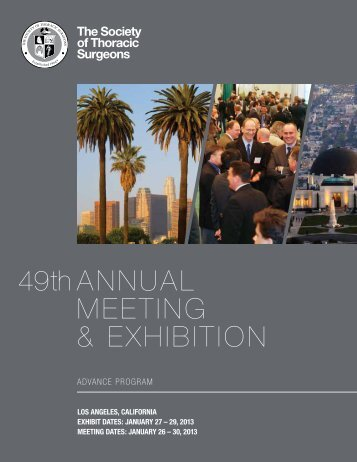 49th AnnuAl Meeting & exhibition - The Society of Thoracic Surgeons