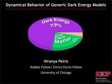 Dynamical Behavior of Generic Dark Energy Models - STScI