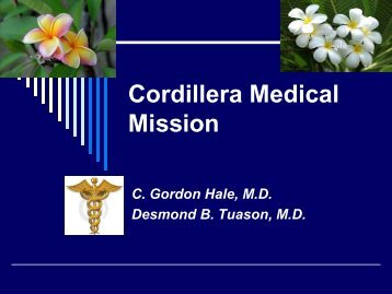 Cordillera Medical Mission - St. Thomas Episcopal Church