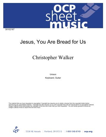 jesus you are bread for us pdf