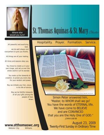 St. Thomas Aquinas & St. Mary Cluster