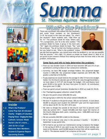Dec/Jan - St. Thomas Aquinas & St. Mary