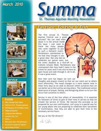 March - St. Thomas Aquinas & St. Mary