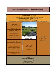 Spirituality in Social Work Conference Schedule
