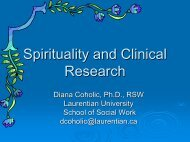 Spirituality and Clinical Research - St. Thomas University