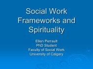 Social Work Frameworks and Spirituality - St. Thomas University