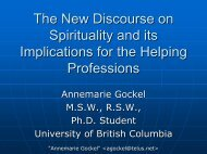 New Discourse on Spirituality and its Implications for Helping ...