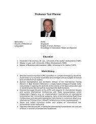 Professor Toni Pfanner - St. Thomas University