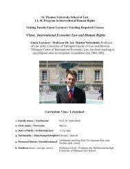 Class: International Economic Law and Human Rights - St. Thomas ...