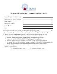 vendor event participation registration form - St. Thomas University