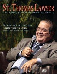 Justice Antonin Scalia - St. Thomas University