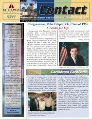 STU Contact Newsletter - St. Thomas University