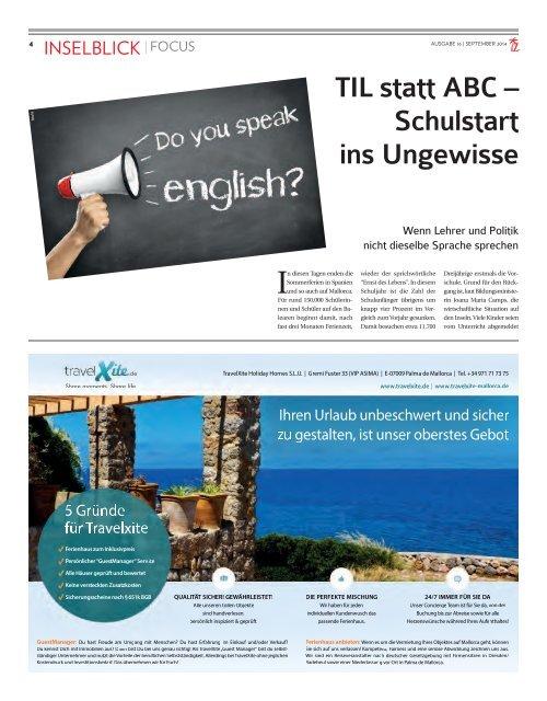 Die Inselzeitung Mallorca September 2014