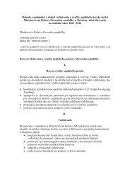 Dohoda o spolupráci v oblasti vzdelávania a výučby anglického ...