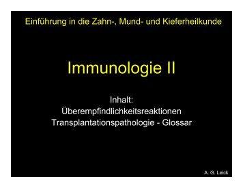 Immunologie II (A.G.Leick) 2005