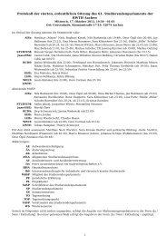 beschlossenes Protokoll der 4. Sitzung - Studierendenschaft der ...
