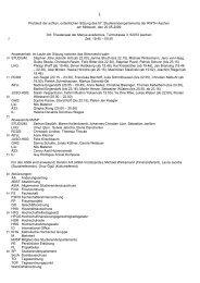 Protokoll der 8. Sitzung - Studierendenschaft der RWTH Aachen