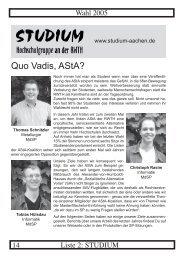 studium - Studierendenschaft der RWTH Aachen