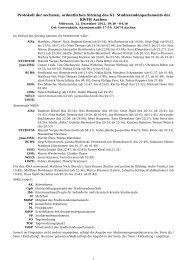 Protokoll der sechsten, ordentlichen Sitzung des 61 ...
