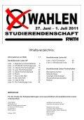 Wahlzeitung 2011 - Studierendenschaft der RWTH Aachen - RWTH ... - Seite 2