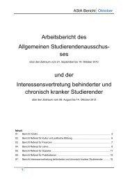 AStA Bericht - Studierendenschaft der RWTH Aachen