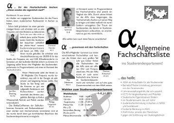 Flugblatt 3 2005 - Studierendenschaft der RWTH Aachen