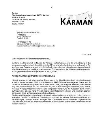 Karman Hochschulzeitung als PDF - Studierendenschaft der RWTH ...