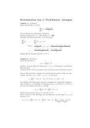 Lösungen zum Sonderübungsblatt 13