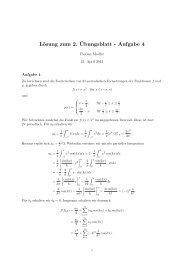 Lösung zum 2. ¨Ubungsblatt - Aufgabe 4