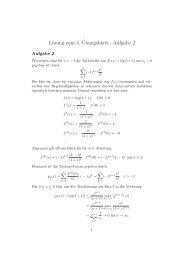 Lösung zum 4.¨Ubungsblatt - Aufgabe 2