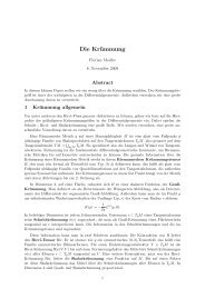 Verschiedene Krümmungsdefinition Riemannscher Mannigfaltigkeiten
